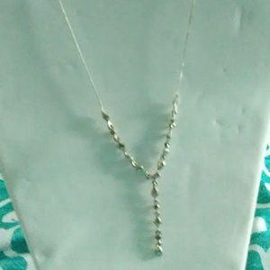 A silver elegant necklace